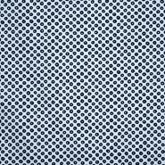 Pamuk, popelin, elastin, točke, 21489-1, plava