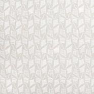 Dekostoff, Druck, Drachen, 21490-051, weiß
