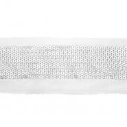 Band, dekorativ, Kunstleder, 21535-110, silbern