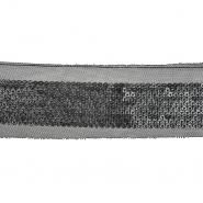 Band, dekorativ, Kunstleder, 21535-130, schwarz
