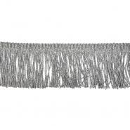 Fransen, Lurex, 7 cm, 21536-036, silbern