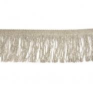 Fransen, Lurex, 7 cm, 21536-055, natur