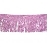 Fransen, Lurex, 7 cm, 21536-169, rosa