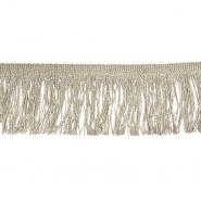 Fransen, Lurex, 20 cm, 21537-055, natur