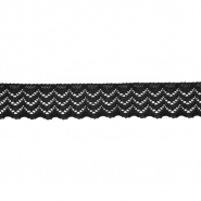 Spitze, elastisch, 20 mm, 21538-002, schwarz