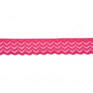 Čipka, elastična, 20 mm, 21538-007, ružičasta