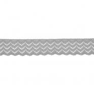 Spitze, elastisch, 20 mm, 21538-027, grau