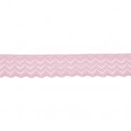 Čipka, elastična, 20mm, 21538-055, alt roza