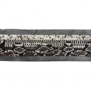 Band, dekorativ, Pailletten, 21540-002, Schlange