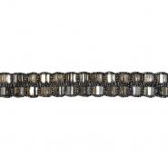 Band, dekorativ, 21547-006, grau
