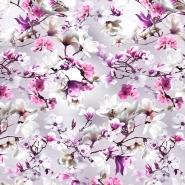 Jersey, Viskose, Digitaldruck, floral. 21375-22
