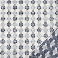 Deko žakard, obostrani, 21571-702, tamnoplava