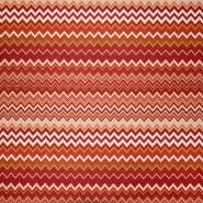 Mikrotkanina, geometrijski, 21573-307, oranžno rdeča