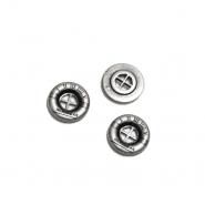Gumb, metalni, 13 mm, 21584-103, srebrna