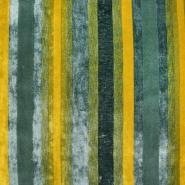 Dekostoff, Samt, Stripes, 21586-806, grün - Bema Stoffe