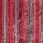 Dekostoff, Samt, Stripes, 21586-305, rot