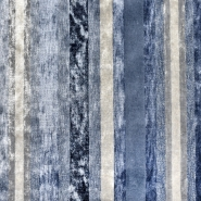 Dekostoff, Samt, Stripes, 21586-600, blau