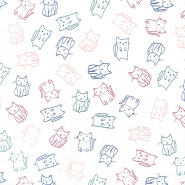 Jersey, Baumwolle, für Kinder, 21593-050, weiß
