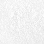 Čipka, cvetlični, 21625-6, bela