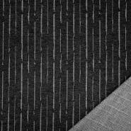 Pletivo, gosto, črte, 21634-7, črna
