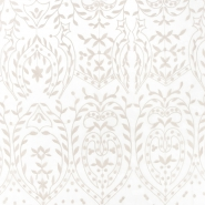 Organza, vezenina, ornamentni, 21637-4, bež