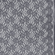 Čipka, elastična, 21657-068, denim siva