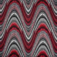 Pletivo, gusto, apstraktni, 21663-015, crvena