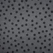 Pletivo, gusto, cvjetni, flock tisak, 21670-067, siva