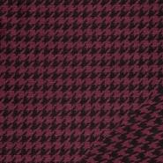 Tkanina, elastična, pepita, 21676-019, rdeča