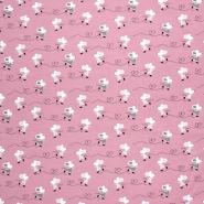 Jersey, bombaž, živalski, 21692-114, roza