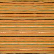 Jersey, bombaž, črte, 21705-08, rumena