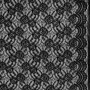 Čipka, elastična, 21657-069, crna