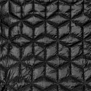 Prošiven materijal, geometrijski, 21841-069, crna