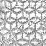 Prošiven materijal, geometrijski, 21841-070, srebrna