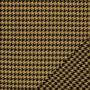 Tkanina, elastična, pepita, 21676-037, rumena