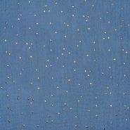 Tetra tkanina, dvojna, pike, 20757-60, modra