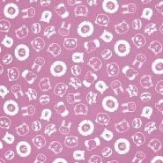 Tetra tkanina, dvostruka, životinjski, 21858-013, roza