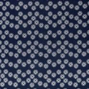 Tetra tkanina, dvojna, cvetlični, 21859-008, temno modra