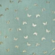 Tetra tkanina, dvojna, otroški, 21860-022, mint