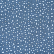 Tetra tkanina, dvostruka, cvjetni, 21910-3028, plava
