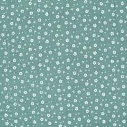 Tetra tkanina, dvojna, cvetlični, 21910-5037, mint