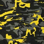 Jersey, bombaž, kamuflažni, 21899-0804, rumena