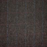 Vuna za kapute, karo, 21925-42, smeđa