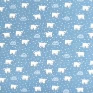 Jersey, bombaž, živalski, 21929-103, svetlo modra