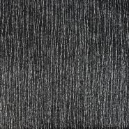 Umetno usnje Keten, 21001-2, črno srebrna
