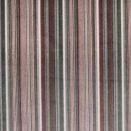 Deko žamet, črte, 21945-3, rjavo-zelena