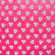 Pliš bombažen, živalski, 21968-3002, roza