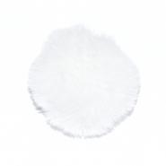 Cof, umetno krzno, 10 cm, 22003-001, bela