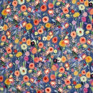 Prevešanka, digital, cvetlični, 21989-007, modra