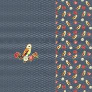 Jersey, bombaž, digital, živalski, 22069-09, modra